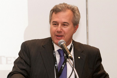 Tom Jenkins, Executive Chairman of OpenText Corporation, hosted the Annual Meeting's Digital Economy Showcase.
