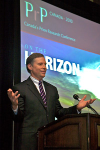 Dr. Chad Gaffield, President of the Social Sciences and Humanities Research Council of Canada attends PrP Canada 2010